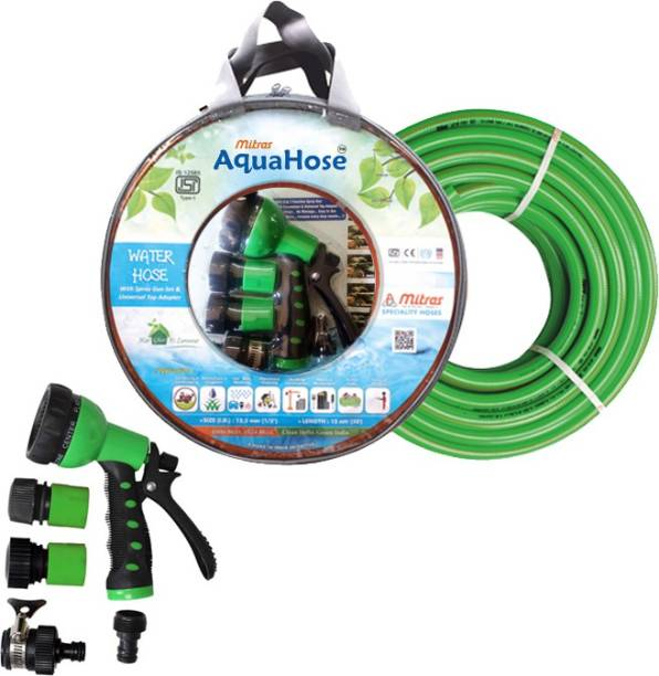 AquaHose Water Hose Set Green 7.5mtr (20mm ID) Hose Pipe Vehicle Brake Cleaner