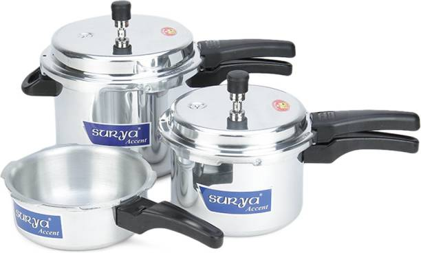 Surya Accent Induction Bottom 3 L, 2 L, 5 L Induction Bottom Pressure Cooker