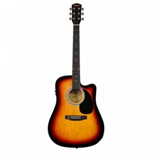 FENDER Squier SA105CE-SB Semi-acoustic Guitar Spruce Rosewood Right Hand Orientation