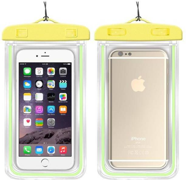 SAFESEED Pouch for Waterproof mobile for all Cell Phone dimensions upto 160x80 mm IPhone 4S 5 5S 5C 6 6S 6+ 6S+ Samsung HTC SONY LG LENOVO - Yellow