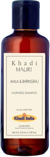 KHADI Amla & Bhringraj Herbal Shampoo - Hair Growth & Root Strengthening - 210 ml