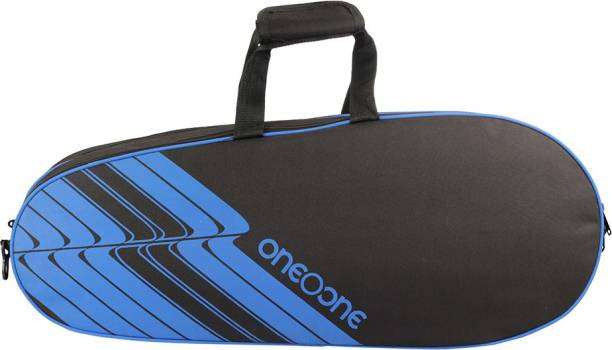 One O One Lines Collection Triple Black Blue Badminton Kitbag