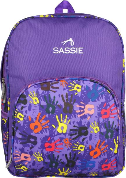 efe36cbefdf9 SASSIE Polyester Purple School Bags (21 Liters) (SSN-1006) Waterproof  Backpack
