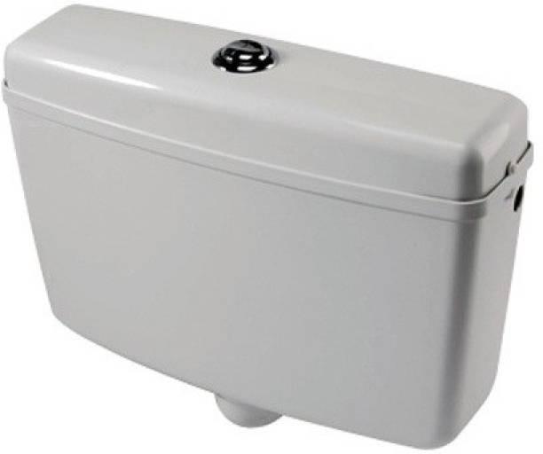 AAI Royal Dual Flush 7 + 3 Liters White Center Push Type Flushing Cistern, Flush Tank Dual Flush Tank
