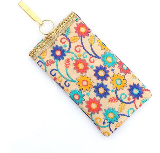 d4ecb2ed63 Productmine Embroidered Mobile Pouch with String and Detachable Key Ring  and Saree Hook Pouch
