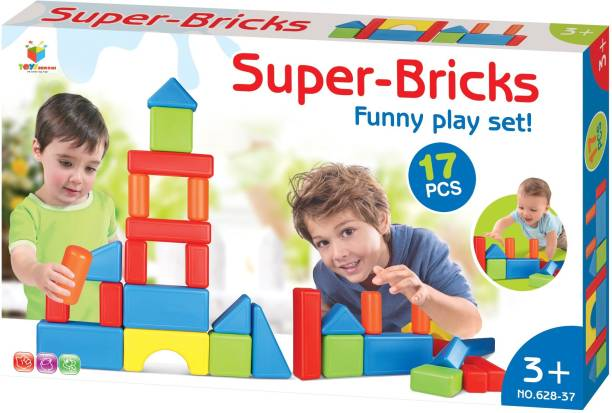 Toys Bhoomi Role & Pretend Play Build Your Own Stacking House with Jumbo Super-Bricks for Junior Builders