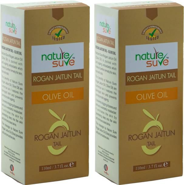 Nature Sure Rogan Jaitun Oil - ( Olive Oil) 220ml ( 2 Packs of 110 ml each of pure Rogan Jaitun Oil)
