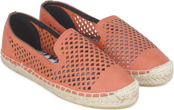 Superdry Celia Slip On Espadrille Coral 6