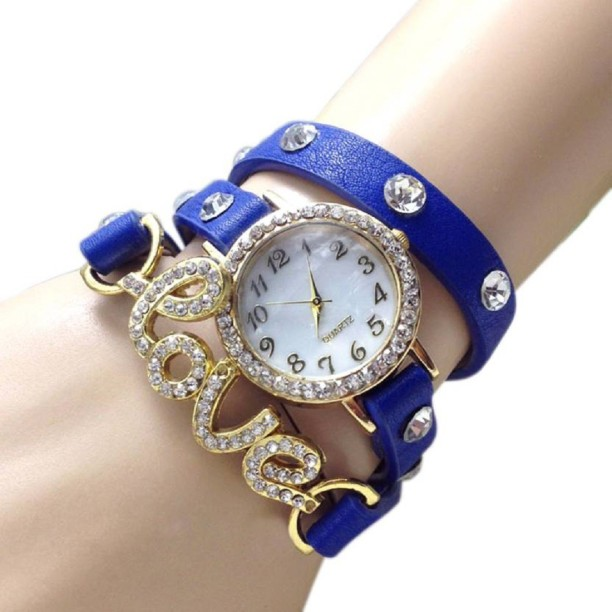 SPINOZA 01S101 blue exclusive diamond studded prisiouse collaction love  bracelet for valantine Watch , For Girls