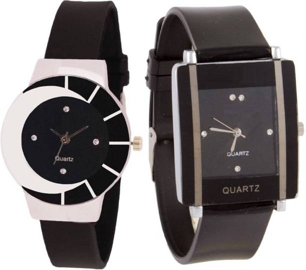 f4e59f0e8 Wanton black white color fancy beautiful glass watch with Black square  shape simple and professional women