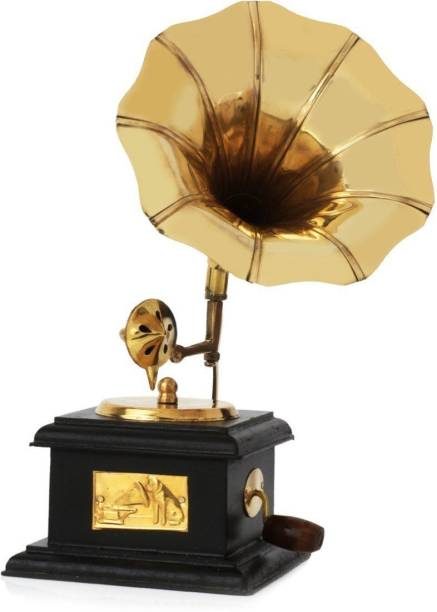Fashion Bizz Antique Handmade Vintage Dummy Gramophone Decorative Showpiece  -  23 cm