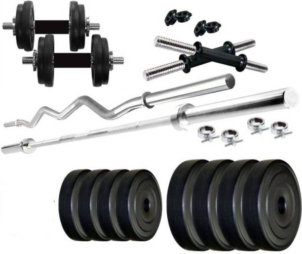 Star X 20 kg PVC Weight with rod home gym combo Home Gym Combo