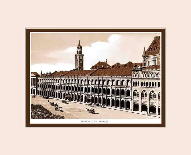 Old Vintage Bombay (Mumbai) Mounted Photo Frame of Bombay Club Fine Art Print