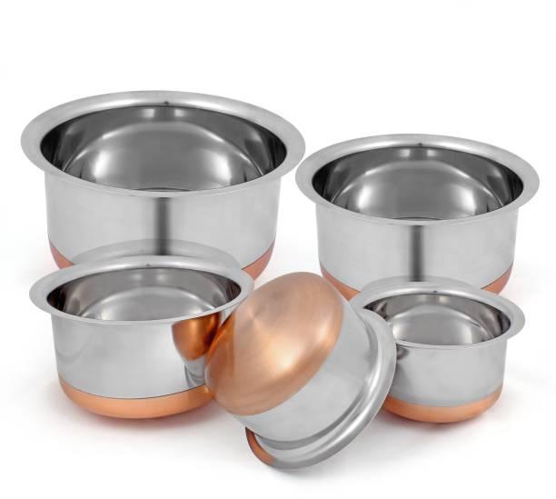 kitchen krafts copper bottom top 5pcs set pot 1 l - Kitchen Krafts