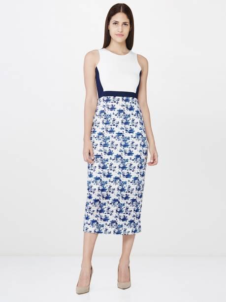 And Women Bodycon Multicolor Dress