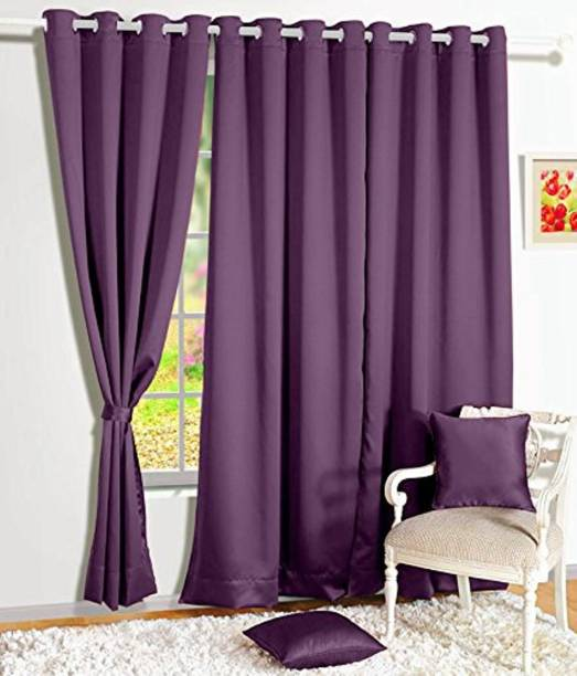 Shivam Concepts 121 cm (4 ft) Polyester Window Curtain (Pack Of 2)