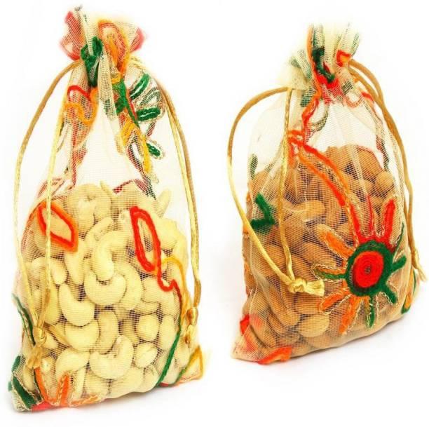 Ghasitaram Gifts Almonds Cashews Net Pouch