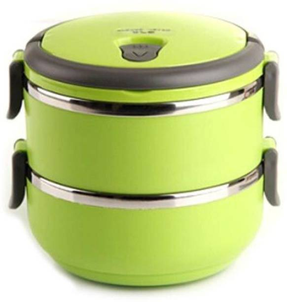 8ea592b91df VibeX ® 2 Layer Lunch Box Picnic Food Container Tiffin Hot Box Vaccum  Insulated with Handle