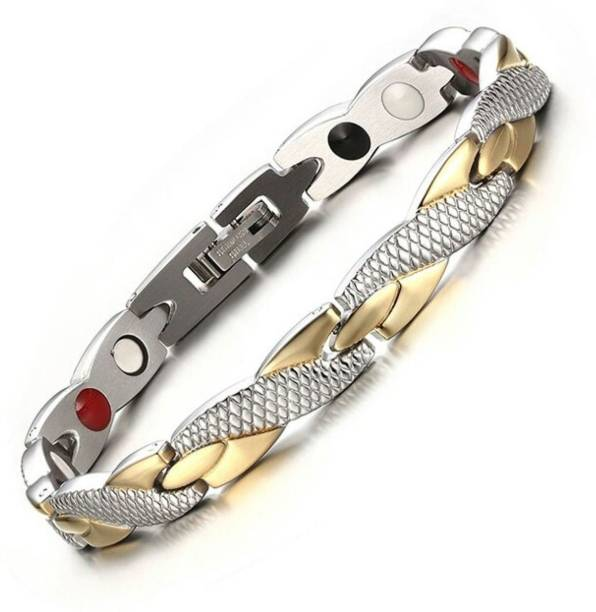 University Trendz Stainless Steel, Metal Gold-plated, Titanium Bracelet