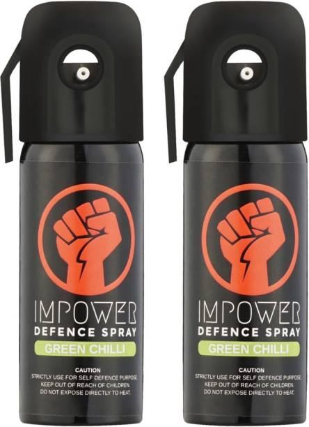 IMPOWER Self Defence Green Chilli Spray Pepper Stream Spray