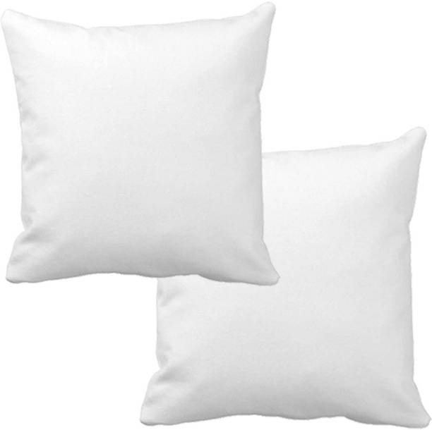 The Home Talk Polyester Fibre Solid Back Cushion Pack of 2