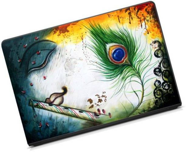Anweshas Printed on 3M Vinyl, Premium Quality, HD, UV Printed, Laminated, Bubble Free, Scratchproof, Washable, Easy to Install Laptop Skin/Sticker/Vinyl/Cover for 13.1, 13.3, 14.1, 14.4, 15.1, 15.6 inches (KrishnaFlute) vinyl Laptop Decal 15.6