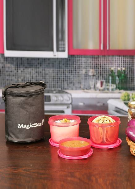 POLYSET Magic SeaL - Delux 3 Containers Lunch Box