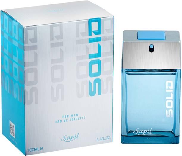 Sapil Solid Blue EDT Perfume For Men (Imported From U.A.E) Eau de Toilette  -  100 ml