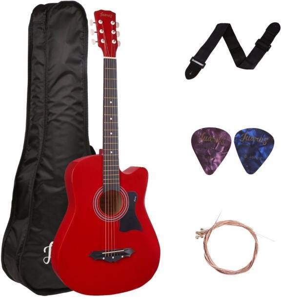 Juarez JRZ38C/RED Acoustic Guitar Linden Wood Ebony Right Hand Orientation