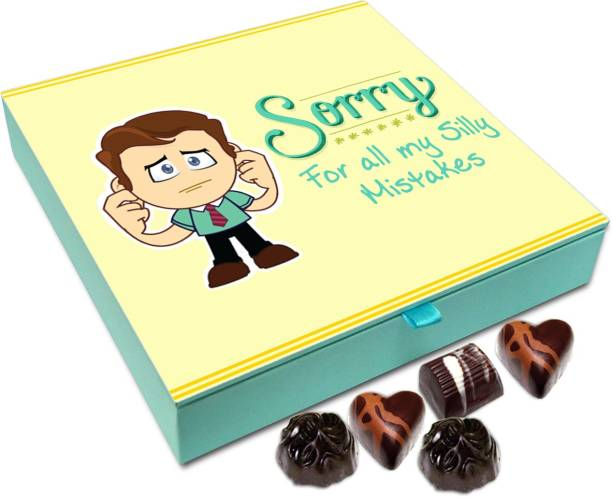 Chocholik Gift Box - Sorry For All My Silly Mistakes Chocolate Box - 9pc Truffles