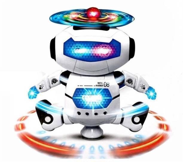 FLYSKY NAUGHTY ROBOT DANCING 360 Degree Rotater WITH Light,Music AND B/O