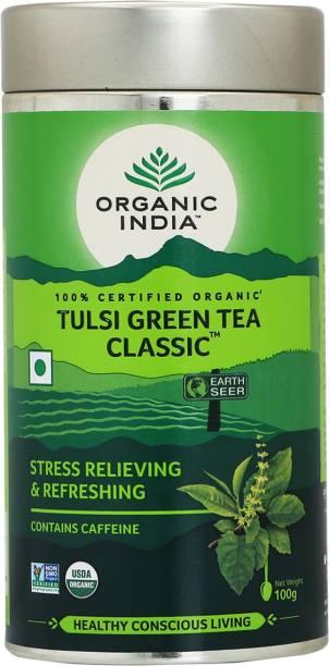 ORGANIC INDIA Tulsi Green Tea Tin