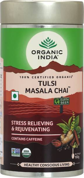 ORGANIC INDIA Masala Tulsi Masala Tea Tin