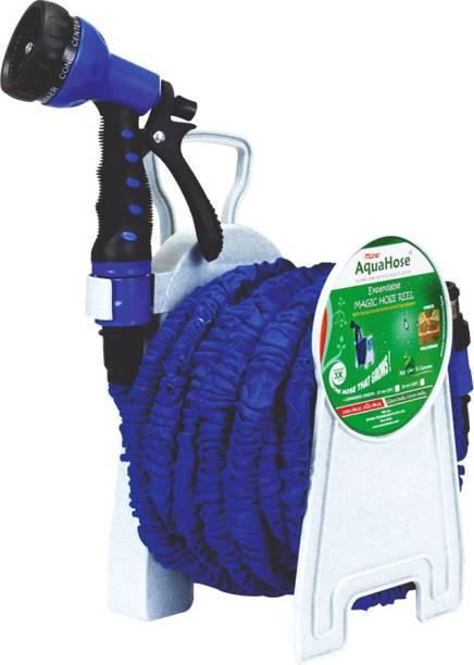 AquaHose Expandable Magic Blue Hose Reel 30mtr Hose Pipe Vehicle Brake Cleaner