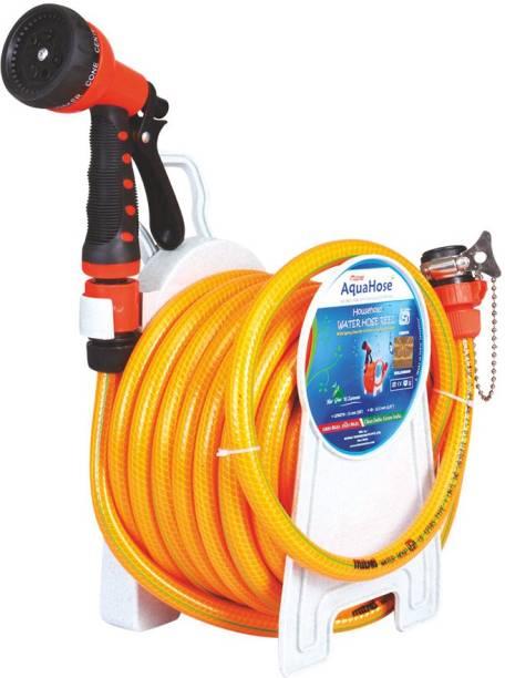 AquaHose Household Water Hose Reel Orange 7.5mtr (12.5mm ID) Hose Pipe 0 ml Wheel Tire Cleaner