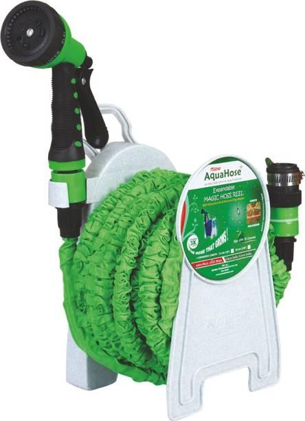 AquaHose Expandable Magic Green Hose Reel 15mtr Hose Pipe Vehicle Brake Cleaner