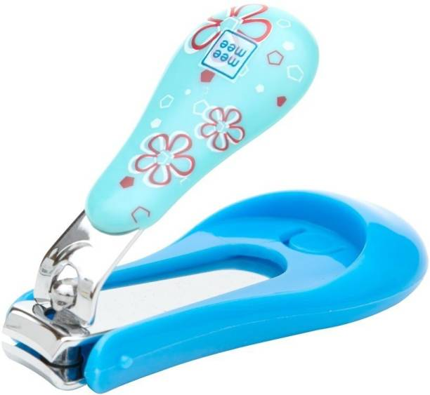 MeeMee Protective Baby Nail Clipper Cutter with Skin Guard (Blue)