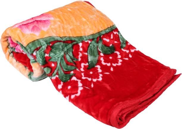 Indistar Floral Double Mink Blanket