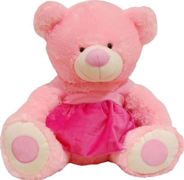 1cc2c4fdbc3 Surbhi Pink Teddy Bear With Frock 65 cm - 65 cm