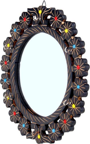 Fab Handicraft Wooden Mirror Decorative
