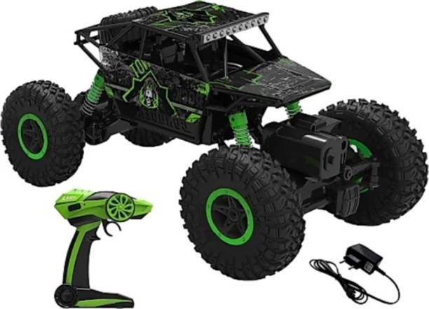 SANJARY Good quality high speed 2.4Ghz Remote Controlled Rock Crawler, RC Monster Truck 4WD, Off Road Vehicle (Green)