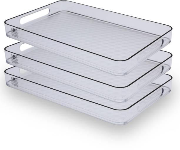 Jaypee Plus Prisma Medium Clear Cup Tray Serving Set
