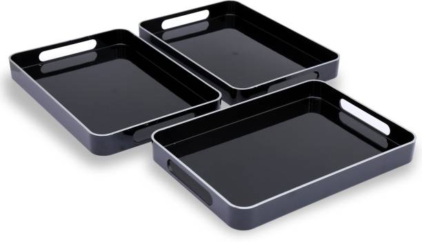Jaypee Plus Prisma Small Black Cup Tray Serving Set