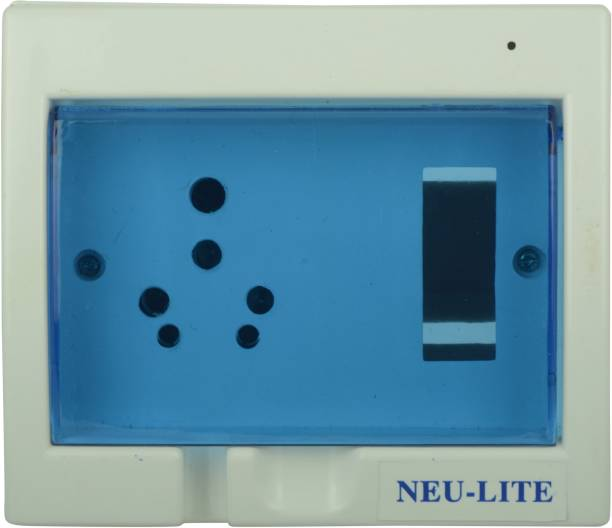 Neu-Lite Arrival Best Selling Premium Quality A/C Box Plastic Wall Plate (White and Blue) Wall Plate