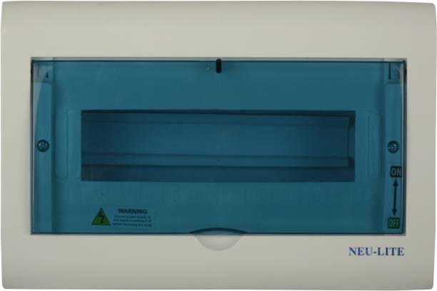 Neu-Lite White Line Arrival Best Selling Premium Quality Plastic MCB BOX Wall Plate (White and Blue, NL003) Wall Plate