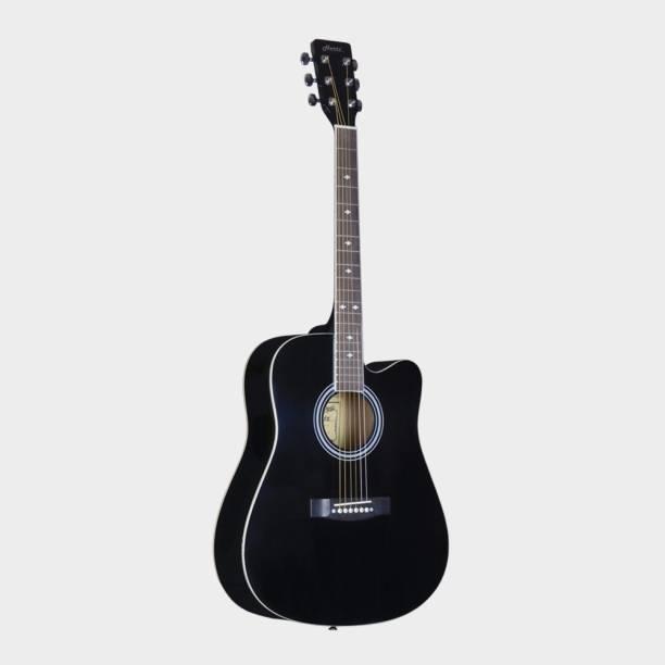 Hertz HZA-4900 Semi-Acoustic Guitar- Black Acoustic Guitar Linden Wood Rosewood