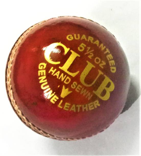 CLUB 2 Part Leather Cricket Leather Ball