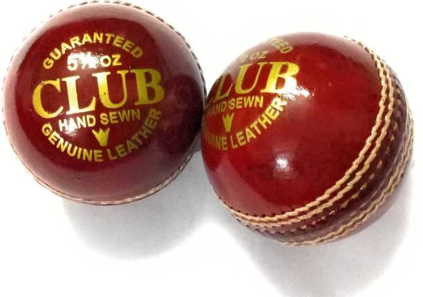 CLUB 2 Part Balls Set of 2 Cricket Leather Ball