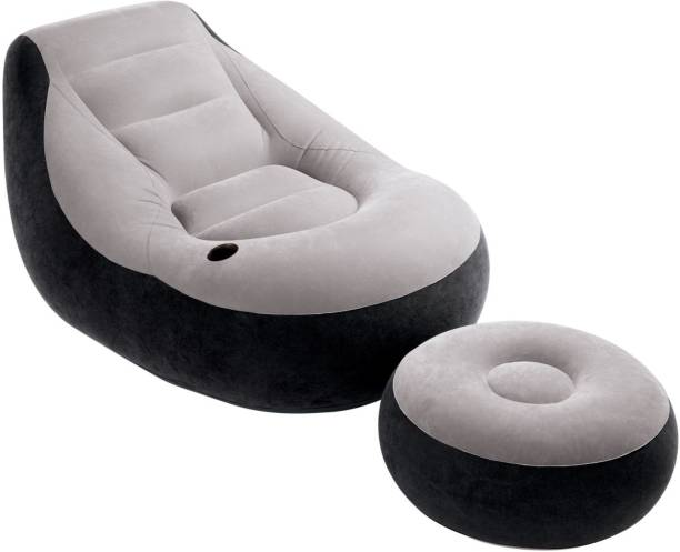 INTEX PVC (Polyvinyl Chloride) 1 Seater Inflatable Sofa