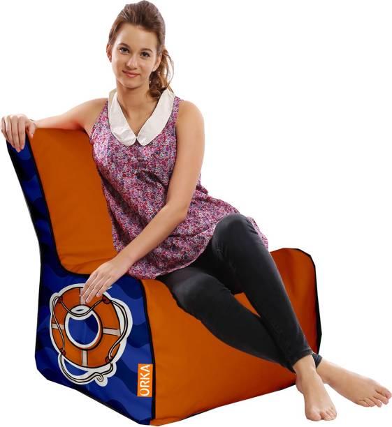 ORKA XXXL Sailor Digital Printed Bean Bag Chair  With Bean Filling